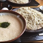 りき - 銀座のお蕎麦位細麺。