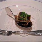ミラヴィル - 虹鱒の燻製のあぶり焼き 鯖のタップナード