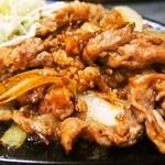 かく庄 - 豚しょうが焼定食(豚生姜焼き)