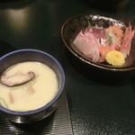 城崎温泉 山本屋 - 茶碗蒸し&刺身
