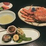 城崎温泉 山本屋 - 料理写真:前菜&松葉ガニ