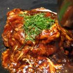京ちゃばな - トマトのお好み焼き 豚肉&チーズ 1180円