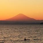 46410681 - この日は葉山から赤富士がとてもキレイに見えた