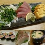 千寿司 - 忙しく握りが甘かったかな?ポロポロ崩れて食べ辛いのが幾度かあったのもご愛嬌◎毎月10日半額デーは恒例かな?