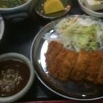 46413860 - サービス定食 ロースカツ700円