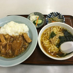 Chuukasobatamiya - 角煮丼 半ラーメン ¥800-  2016.1.13 Wed. 13:10