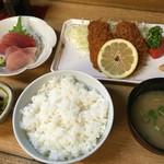 かご平 - アジフライ定食1200円