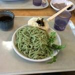 46418559 - クレソンつけ麺、野沢菜お焼き。
