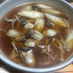 鮨の安さん - 牡蠣そば(1000円)