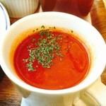 46426214 - トマトスープが濃くて美味しいの♫
