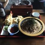 滝野庵 - 2015.7.19 天ざる+瓶ビール