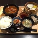 和夢茶Cafe - 麻婆抹茶豆腐セット