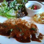 シャビー&チック - 数量限定週替りの「ランチセット」 ■ランチプレート~豚肉のステーキ