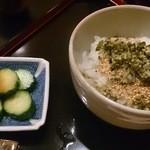 洲石 - ご飯:もち米&酢茎
