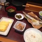 味の正福 - さんま塩焼き定食♡