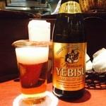 46436543 - 瓶ビールしか置いてません。800円(・_・;