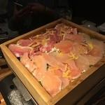 46447690 - 岩手県整流鶏と季節野菜のせいろ蒸し