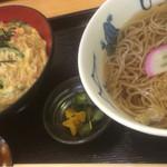 ひさ家 - 木の葉丼定食(温そば)