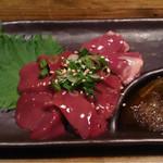 居酒屋 遊膳 - 鶏のレバ刺し