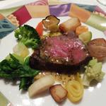 モナリザ - 2016年1月 国産牛ロース肉のグリエ カフェドパリソース 冬野菜添え