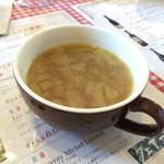 ビストロ ダイナ - 160114 ランチのスープ