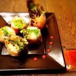 ビバラビーダ - サーモンとクリームチーズの生春巻き¥650