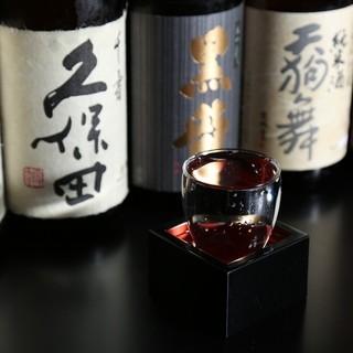 日本酒にもこだわっています。