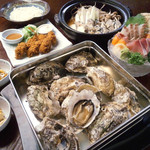 海平商店 - 料理写真:大満足の『かきコース』3000円