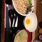 たまごかけごはん屋 あかね農場 - 大粒納豆たま丼 490円