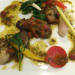 ラブレー - 岩手県広田湾の牡蠣       フレッシュバジルとバターソース