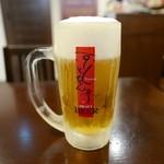 京とんちん亭 - 生ビール(500円)