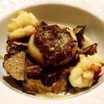 46459722 - 帆立貝のグラチネセップ茸のクリームソース