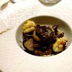 46459724 - 帆立貝のグラチネセップ茸のクリームソース