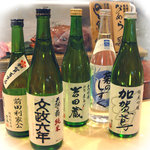 金沢まいもん寿司 - 地酒各種そろっています。