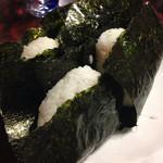 まずい魚 青柳 - 〆は筋子入りのおにぎり