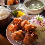 中華そば マルバン - からあげ定食