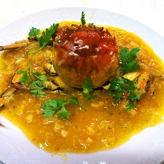 台湾料理 光春 - 料理写真:上海蟹の炒め物