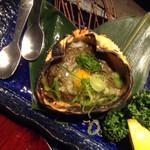 生け簀の甲羅 - 甲羅焼き