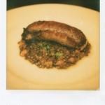 """la Tache - """"saucisse aux lentilles"""" ソーセージとレンズ豆の煮込み"""