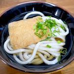 松乃家生麺 - かけそのまま+お揚げ