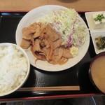 46466945 - 豚生姜焼き定食
