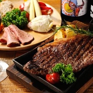 黒毛牛ステーキ×イタリアン=肉バル