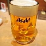 すし富 - 生ビール