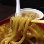 麺吉 どんどん - H.28.1.14.夜 麺リフト(肉カレーうどん)