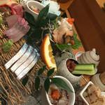 鮨 桧がき - 料理写真:お刺身