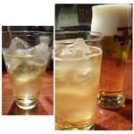 イル・フェ・ソワフ - ビールと梅酒ソーダ割り