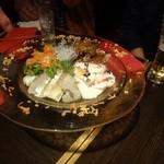 フレスコバルラディカル - 4種類のカルパッチョ盛り合わせ真鯛・サーモン等