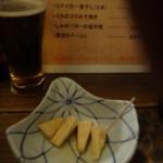 五坪 - クリームチーズのわさび漬300円