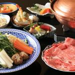 なか安 - すき焼き または しゃぶしゃぶコース(8,000円)