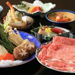 なか安 - すき焼き または しゃぶしゃぶコース(6,000円)